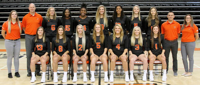 2019 UJ Women's Volleyball team photo.